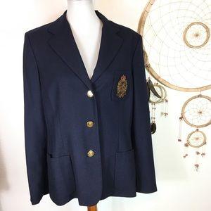 Ralph Lauren Crest Wool Blazer